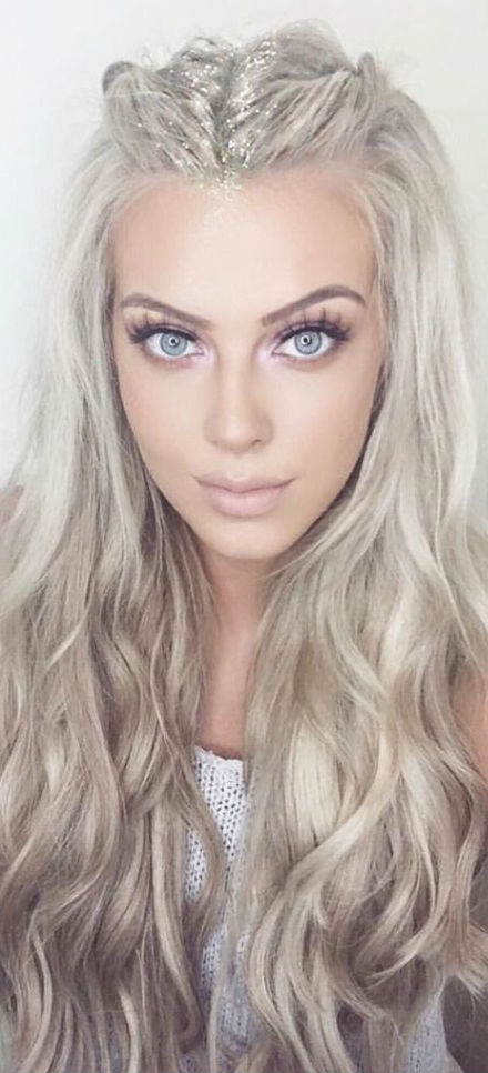 beauty blond hairstyle idea