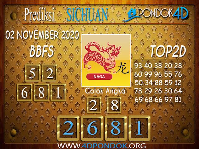 Prediksi Togel SICHUAN PONDOK4D 02 NOVEMBER 2020