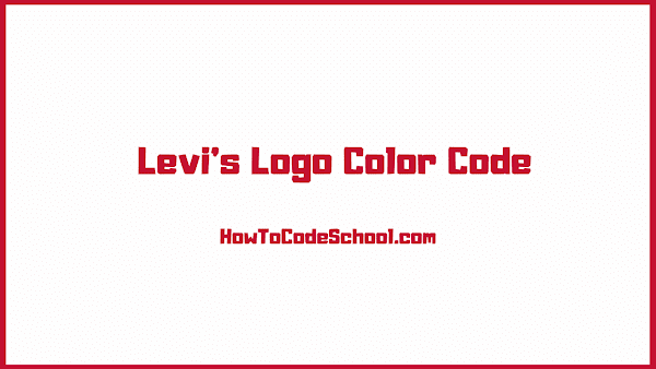 Levis Logo Color Code