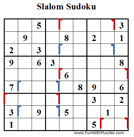 Slalom Sudoku (Daily Sudoku League #39)