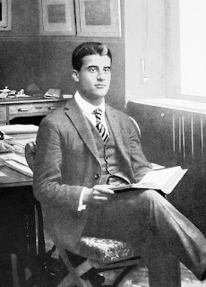 Frassati in the office of his father, who  owned the newspaper, La Stampa
