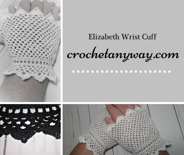white crocheted wrist cuff/glove for cosplay or costume or prom or wedding