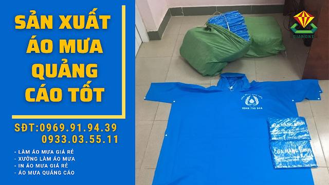 Áo mưa tặng công đoàn, sản xuất áo mưa cánh dơi giá rẻ