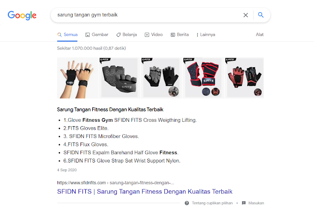 Contoh tampilan listicle featured snippets google by leafcoder.org