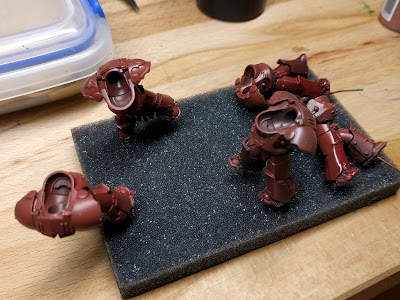 Terminator bodies with initial dark red applied
