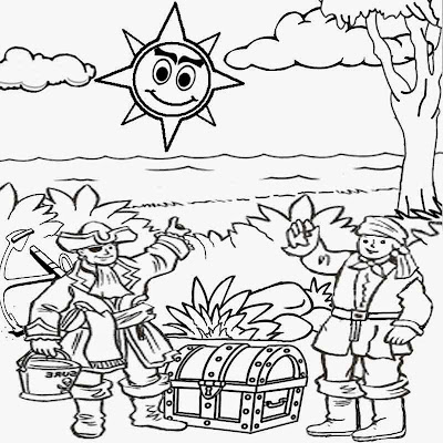 Cartoon ocean coloring pages for Under the sea coloring pages for preschool