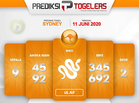 Prediksi Togel Sydney Kamis 11 Juni 2020 - Togelers
