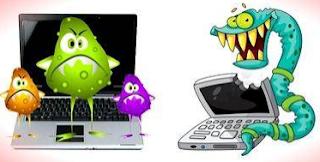 ciri laptop kena virus