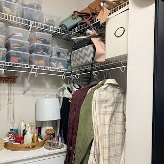 DIY built in Kallax closet hack