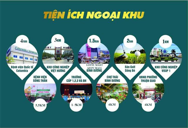 Tiện ích ngoại khu căn hộ Astral City Thuận An - Bình Dương