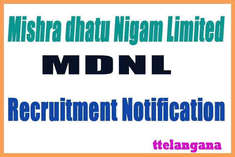 MIDHANI Mishra dhatu Nigam Limited Recruitment Notification