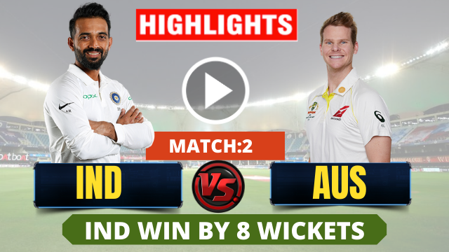 IND vs AUS 2nd Test Match : India's huge win in Boxing-Day Test by 8 wickets, series are leveled 1-1