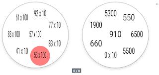 Multiplicación por decena y centena completa, con 8 símbolos.