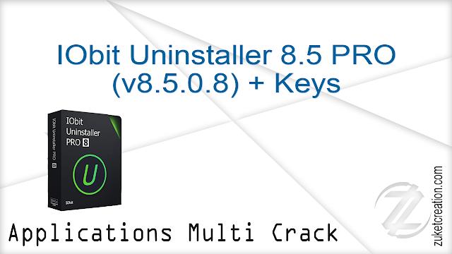 IObit Uninstaller 8.5 PRO (v8.5.0.8) + Keys    |  19 MB