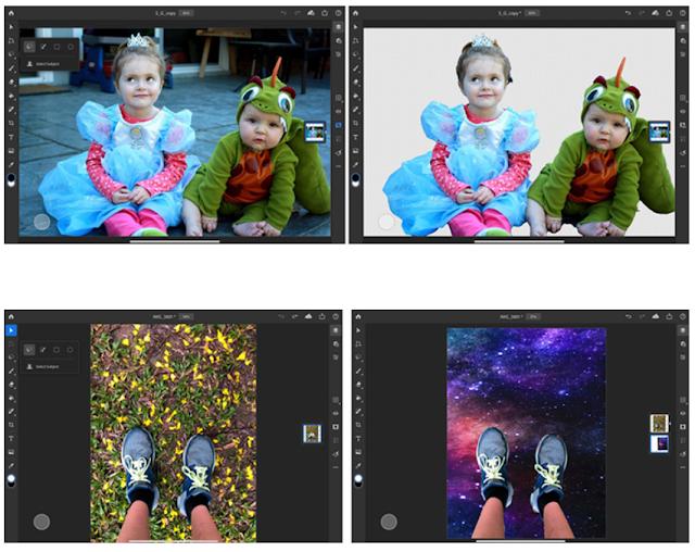 iPad 版 Photoshop「被写体を選択」