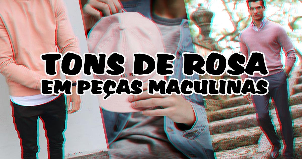 Peças em Tons de Rosa no Visual Masculino (1)