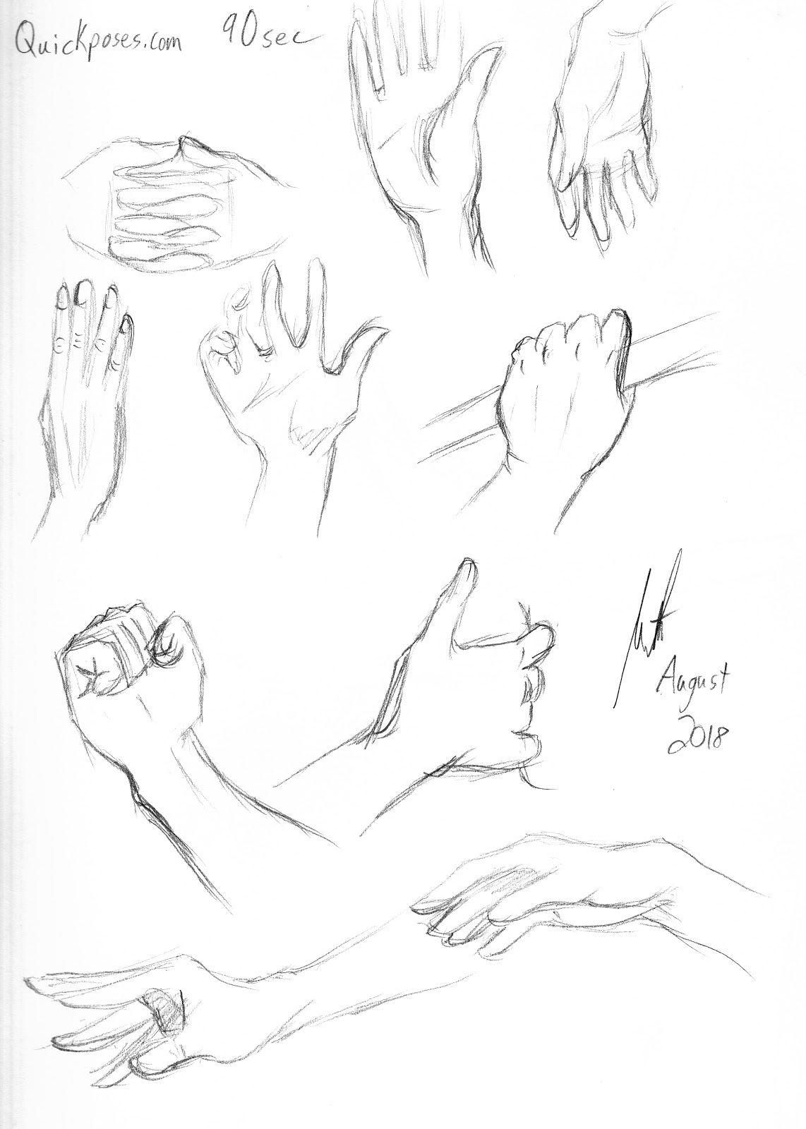 meredith studio sketch diary hand gestures for the win