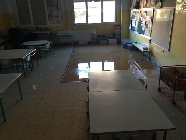 fuga de agua en colegio Gurutzeta
