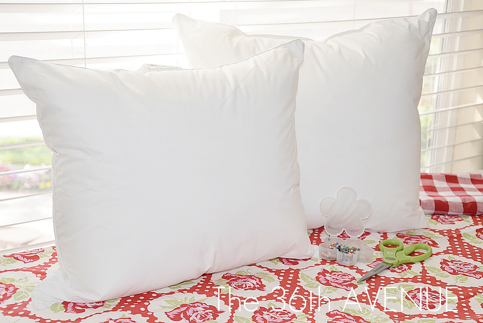 diy pillow insert from a king size