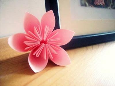 gấp giấy origami hoa anh đào