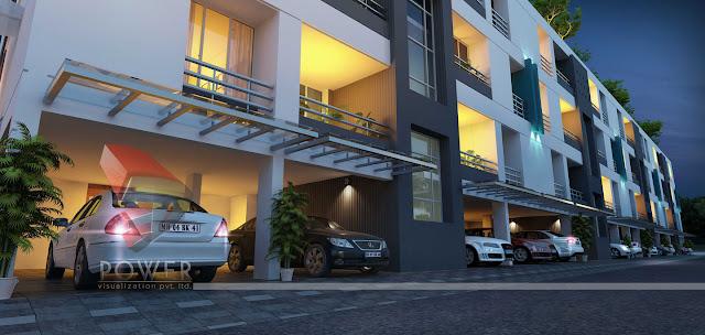 Parking Area Township 3D
