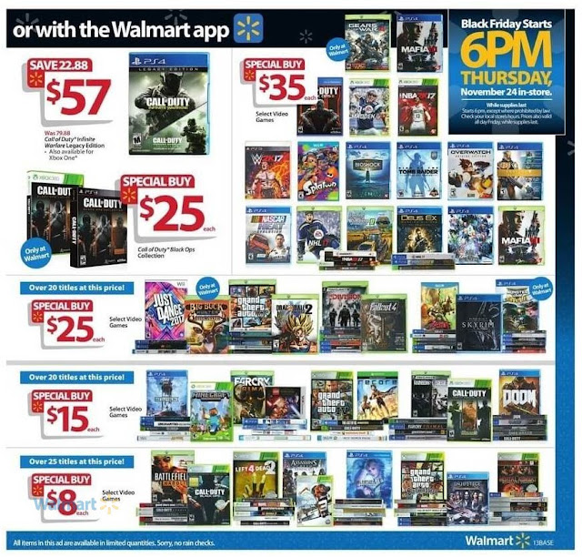 Walmart Black Friday 2016 Discount on Video Games