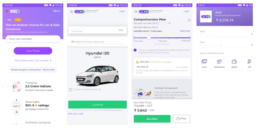 Download Acko Car And Bike Insurance Mobile App Youth Apps Best Website For Mobile Apps Review