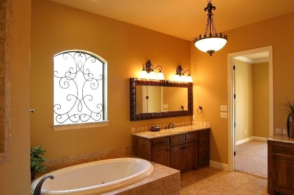 Stunning Sensation Yellow Gold Bathroom Design Ideas Art