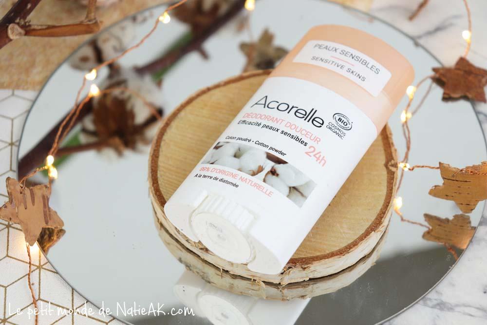 déodorant douceur bio Acorelle  peaux sensibles