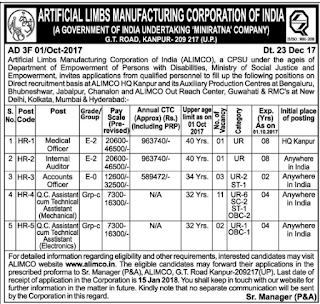 ALIMCO – Recruitment 2018 – @www.alimco.in
