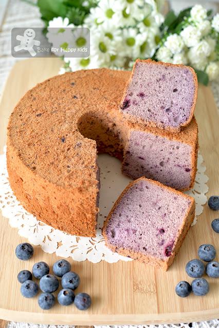 best perfect ultra soft blueberry chiffon cake