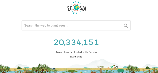 Ecosia for tree planting