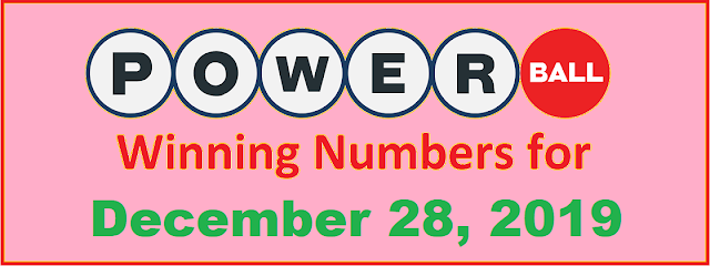 PowerBall Winning Numbers for Saturday, December 28, 2019