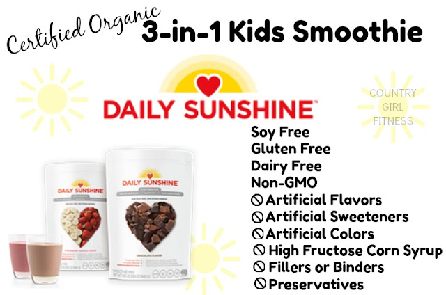 country girl fitness: daily sunshine - certified organic 3-in-1 kids