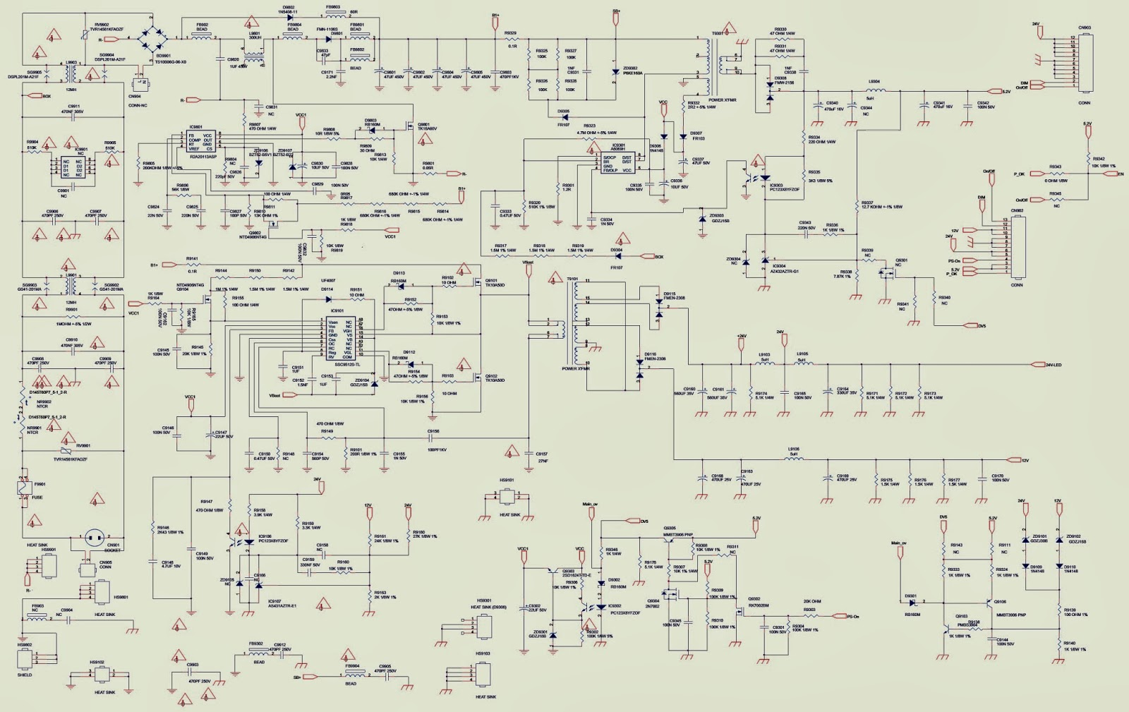 Philips Tv Wiring Diagram Solution Of Your Guide L04a Chassis Power Supply Smps Scan Out Schematic 32pfl3507 42pfl3507 Rh Electronicshelponline Blogspot Com Connection Diagrams And