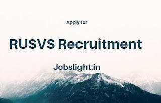 RUSVS Recruitment