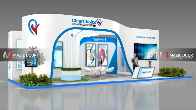 9m by 3m Exhibition stall Design 1