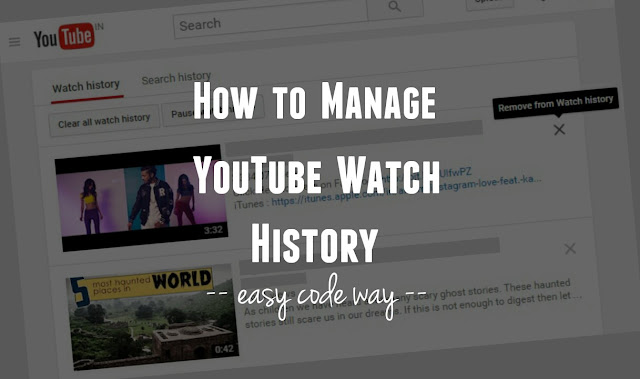 Manage YouTube Watch History