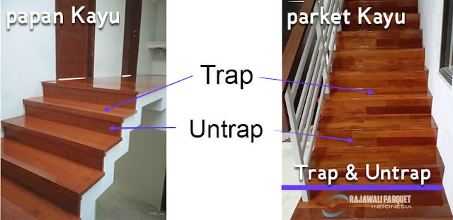Trap dan Untrap pada tangga parket kayu