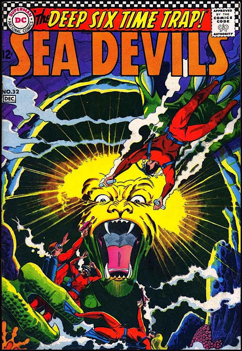 a Russ Heath comic book 1960s, Sea Devils