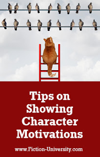 showing character motivations, how to motivate characters, goals and motivation
