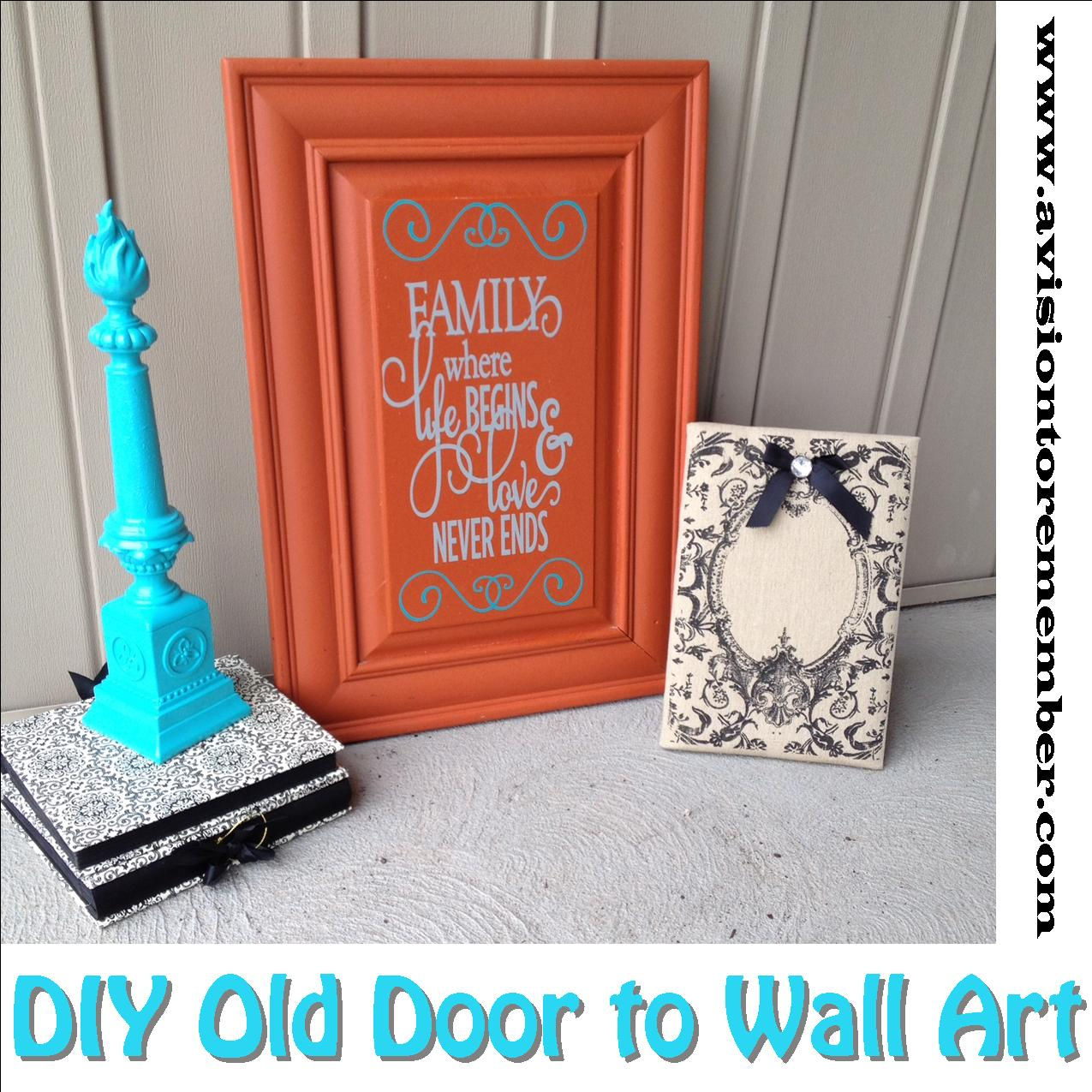 DIY Old Cabinet Door Upcycle To Family Room Wall Art Plus