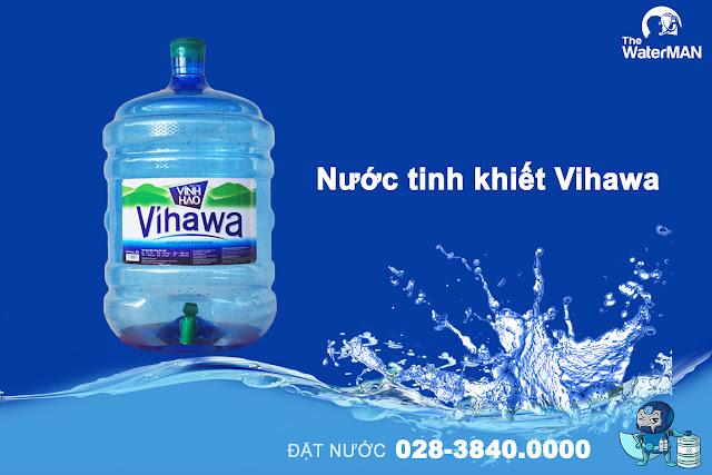Nước tinh khiết Vihawa bình vòi 20L