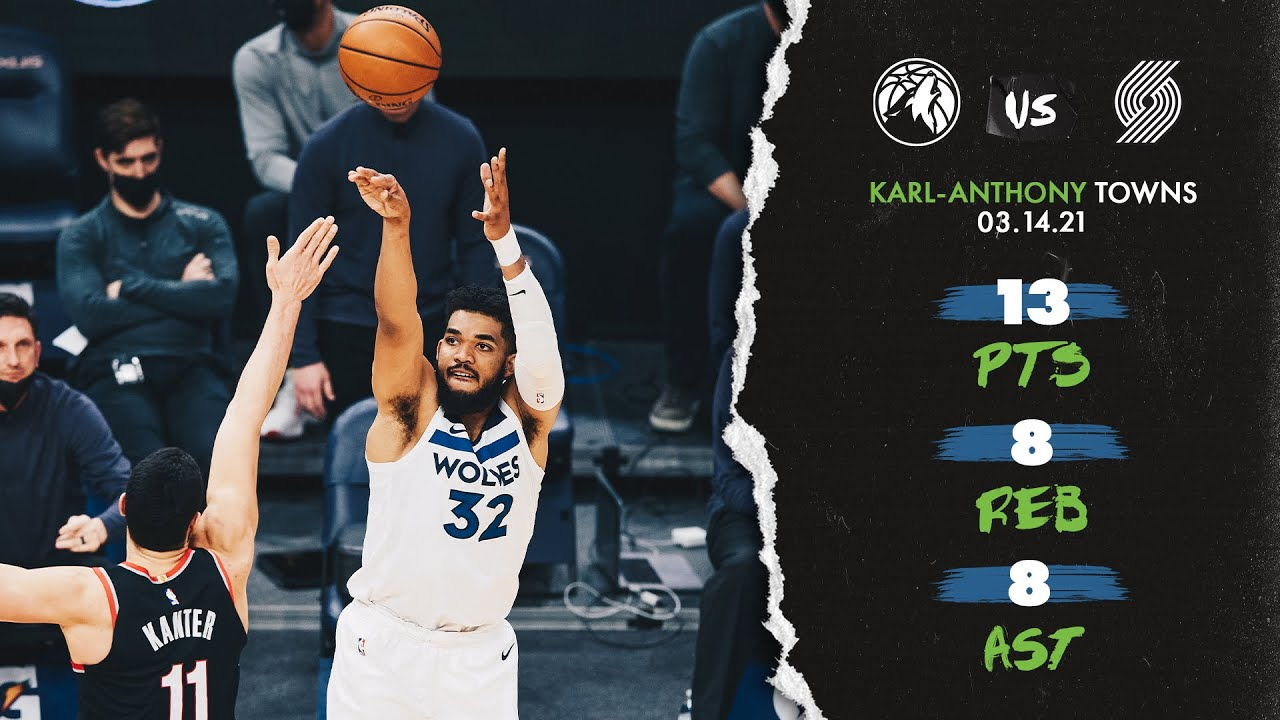 Karl-Anthony Towns 13pts 8reb 8ast vs POR | March 14, 2021 | 2020-21 NBA Season