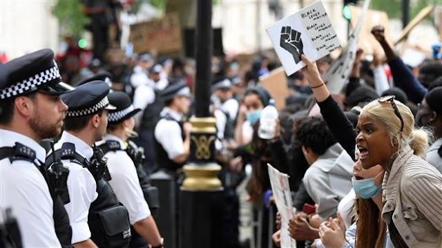 Black Lives Matter protests in London condemn British racism as well as racism in the United States