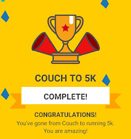 Couch to 5k Week 9 Completion Badge