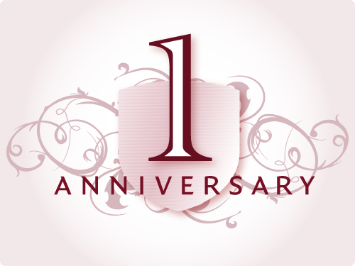 It turns One (1) ... happy blog-versary
