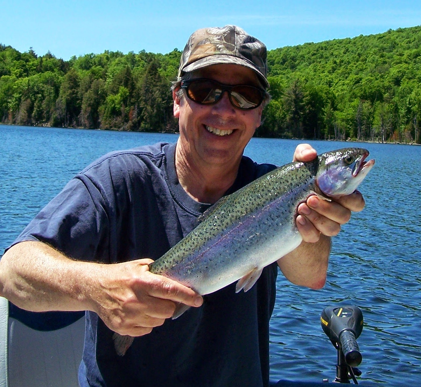 Pêche Lac Berval, pêche truite arc-en-ciel, truite mouchetée, blogue sur la pêche
