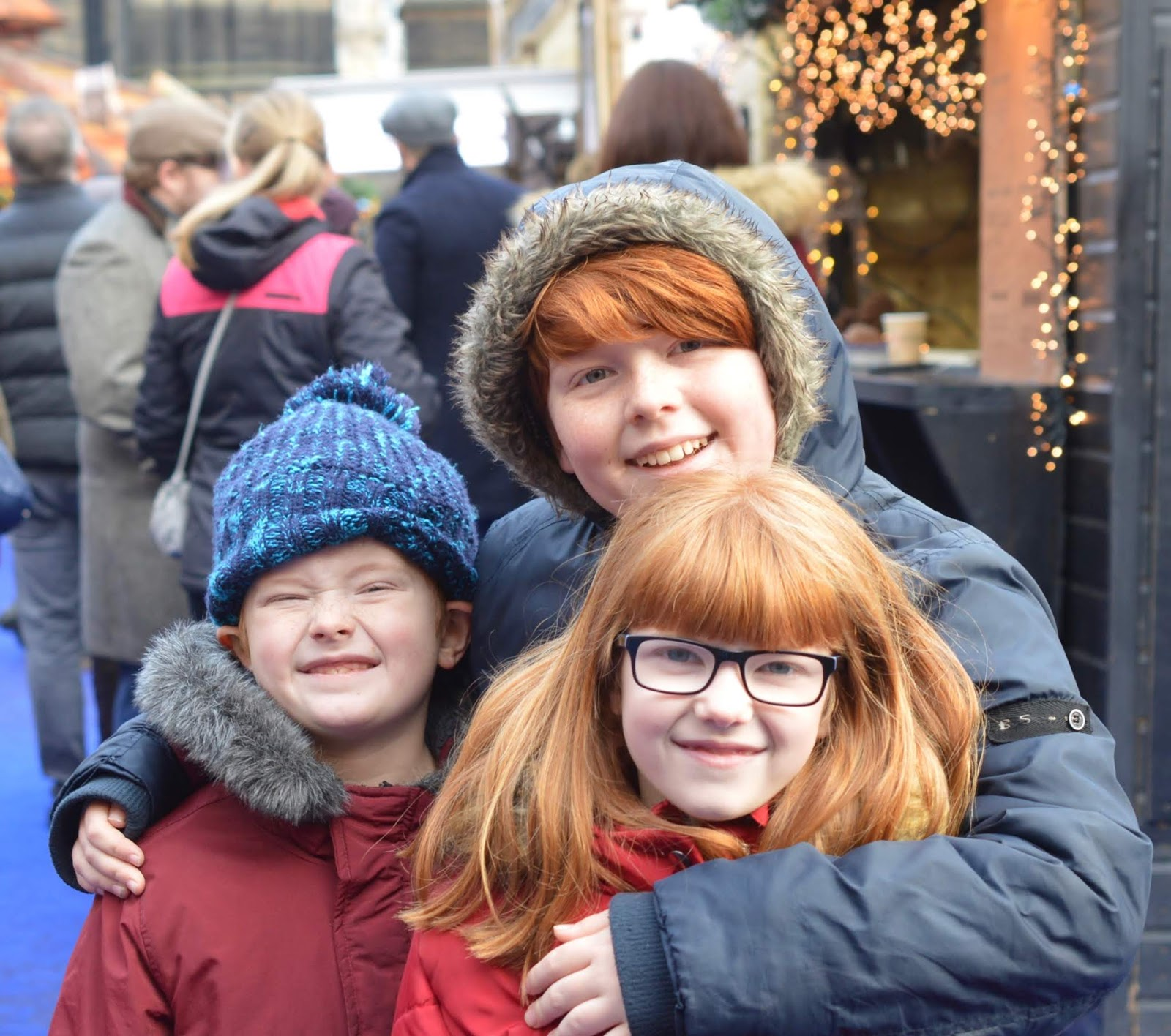 Top Tips for Driving to Edinburgh Christmas Markets with Kids - kids at the markets