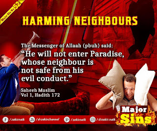 MAJOR SIN. 52. HARMING NEIGHBOURS